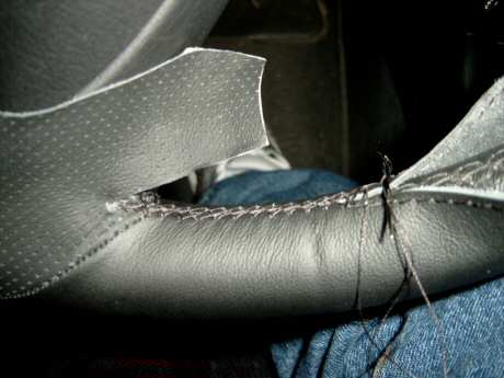 comment coudre un volant en cuir